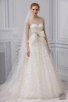 """Monique Lhuillier, Spring 2013 Bridal, """"Champagne"""""""