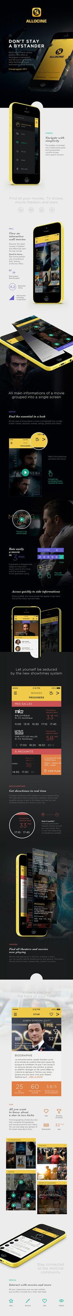 AlloCine - Concept Mobile app #ios7 #app #ui #iphone