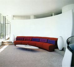 geometric form in living room