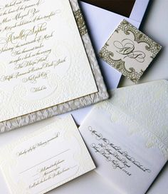 lace-inspired invitations made by Alpine Creative Group!