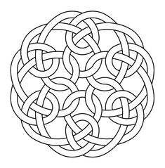 Celtic symbol knot hexagonal