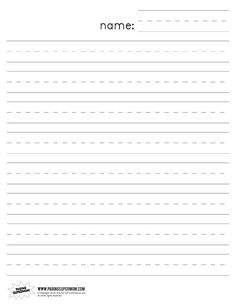Dashed Line Handwriting Practice Paper Printable Worksheet for ...