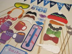 PDF  WINTER photo booth props/decorations/craft  by chelawilliams, $3.95