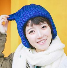 853bf0d2a0a89 Fashion cat knit hat with ears for women winter hat with ear flaps
