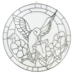 Tree House Studio Hummingbird Faux Stained Glass Template   Shop Hobby Lobby