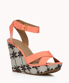 Faux Patent Palm Tree Wedges | FOREVER21 Do you have your wedges?