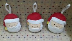 Santa plushies ~Dreamgirl Crafty