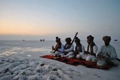 The unearthly and startling white salt flats of the Great Rann of Kutch serve as the site for The Rann Utsav .