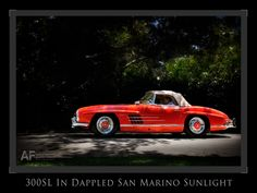 Sunday afternoon sunlight on a 300SL at the 2012 San Marino Motor Classic