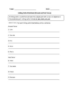 Linking Verbs and Complements Worksheet | school | Pinterest ...