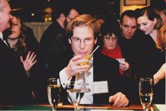 IMAGE UPDATE: The International Martini Competition between Seattle and Vancouver, 1999. It was the extension of the Seattle Martini Competition which was held from 1991 through 2000. Steve Wilson, one of the judges. [COPYRIGHT ©2000 JARED BROWN: £50 FOR 5 YEARS. IMAGE AT: https://www.dropbox.com/s/nndd9orkfkh41nz/SEATTLE-MARTINI%201.jpeg?dl=0]