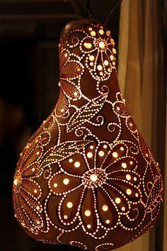 Earth tones...(brown) - Gourd lantern - Gorgeous for Ramadan Lanterns!!!!