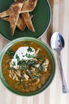 minus the chicken thighs - Slow Cooked Moroccan Lentil Soup   #GetZomt #Recipe