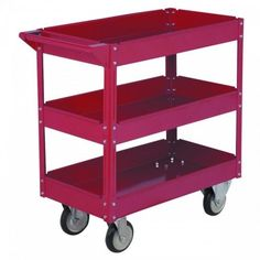 Rolling cart for hobbies, toys, whatever...maybe a shoe rack inside a closet, or a video game cart from the blog burlapanddenim.com and sold by Harbor Freight