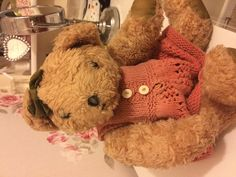 Found at Cannock Chase on 01 Jan. 2016 by Ann: I've been given this bear that was found on Cannock Chase. It's been in a lost property area for a Lost & Found, Pet Toys, Ann, Teddy Bear, Teddybear
