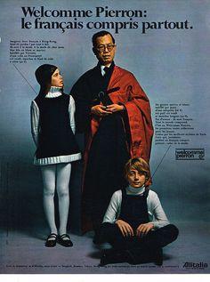 PUBLICITE ADVERTISING 1970 WELCOME PIERRON pret à porter in Collections, Objets publicitaires, Publicités papier | eBay