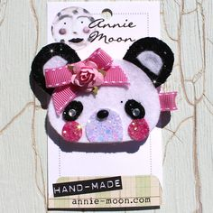 Panda Sparkle Hair Clip by AnnieMoonPretties on Etsy