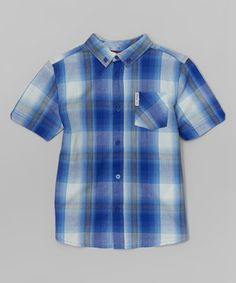 Love this Surf the Web Plaid Button-Up - Infant, Toddler & Boys on #zulily! #zulilyfinds