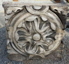 Vintage Terracotta Floral Medallion salvaged from Ohio School Building