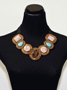 Bib necklace with turquoise and tiger eye? SOLD! <3