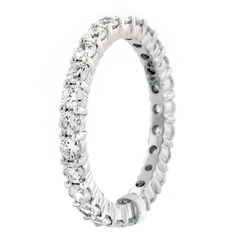 1.56 ct Round Brilliant Cut Diamond Eternity Band in 18K White Gold #WithDiamonds #diamonds #engagement-rings #rich-people #diamond-engagement-rings #bridal-jewelry #famous-people