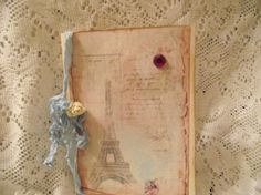 French Inspired Card Eiffel Tower Adorn With Glitter by mslizz, $5.50