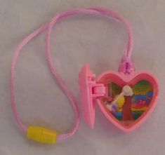 Vintage1994 bluebird toys polly pocket happy meal toy – necklace with swinging polly. In good shape. Thank you for looking at this item from the fakie spaceman toy store!we are long-time toy collectors and sell previously-owned merchandise.we are located in the united states but shipworldwide, and are happy to combine shipping for multiple purchases! We acceptpaypal payments, and orders are mailed within one (1) business day of clearedpayment. If you have any questions, please ask.