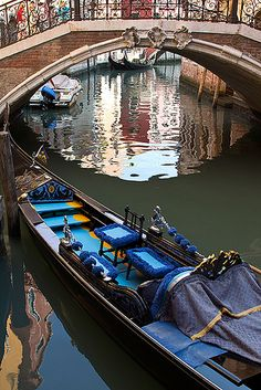 A gondola ride with Gail in Venice, Italy.