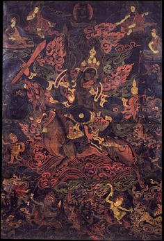 Shri Devi (Buddhist Protector) - Rubin Museum of Art - Tibet South Of Heaven, Vajrayana Buddhism, Thangka Painting, Himalayan, Tibet, Deities, Art Museum, Horror, Artist