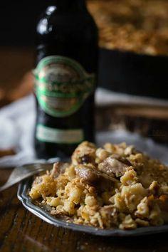 beer bratwurst macaroni and cheese