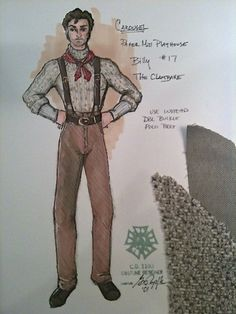Carousel (Billy Bigelow). Paper Mill Playhouse. Costume design by Gregory A. Poplyk. 2002