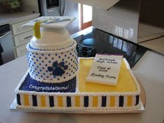 """Graduation - 2009 Graduation....all iced in buttercream, with fondant accents of the mortar board, and the """"diploma.""""  Graduate designed this herself, and is UK bound, so the cake represents both past (high school) and future (college)."""