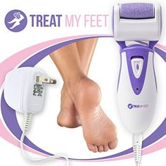 Rechargeable Electric Callus Remover & Foot File - Pedicure Tool to Exfoliate Dry Feet & Cracked Heels with Powerful Pumice Stone Rollers & Heel Smoother, Callous Shaver & Sander for Women & Men
