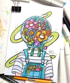 Easy Graffiti Drawings, Indie Drawings, Graffiti Doodles, Art Drawings Sketches Simple, Easy Drawings, Drawing Ideas, Hippie Drawing, Hippie Painting, Hippie Art
