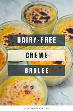 This Dairy-free Crème Brûlée is a great recipe everyone should have when they entertain their dairy-free guests. Or better yet, you're dairy-free like me and can't wait to try this safe recipe! Chocolate Mousse Recipe, Dairy Free Chocolate, Bbc Good Food Recipes, Great Recipes, Summer Recipes, Lactose Free Recipes, Gluten Free, Traditional French Desserts, Dairy Free Cream