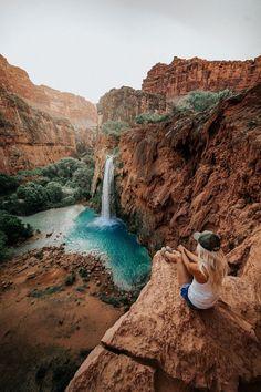 Hiking Guide – Havasu Falls - Travel destinations, travel quotes and travel bucket list Havasu Falls Arizona, Havasupai Arizona, Havasupai Falls, Havasu Falls Hike, Travel Photography Tumblr, Adventure Photography, Hiking Photography, Mountain Photography, Nature Photography
