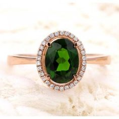 1.50 Carat Emerald and Diamond Halo Engagement Ring in Yellow Gold