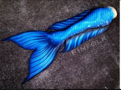 Winter themed blue tail from Finfolk Productions. The Realistic fluke, with giant sidefins and blended waist.  #mermaid #mermaids #mermaidtail #siliconemermaidtail #dragonskin