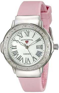 Women's Wrist Watches - Swiss Legend Womens 20032DSM02PKS South Beach Analog Display Swiss Quartz Pink Watch * For more information, visit image link.