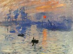 莫內(Claude Monet 1840-1926)法國印象派創始人之一,擅長光和影的表現技法。「日出 印象」展出時曾被諷喻「糊牆花紙也比這幅海景更完整」但以後却成為印象派的起始之作。
