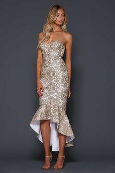 Yasmin Dress By Elle Zeitoune Gold