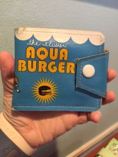 Vintage Burger and Friends Rare Novelty Wallet The Elusive Aqua Burger
