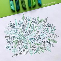"1,285 Likes, 4 Comments - Ann Pellegrino (@spotgirldesign) on Instagram: ""Leafy doodles with @mapedhelixus Graph'Peps #mapedgraphpeps #doodle #doodleart #doodles #leafart…"""