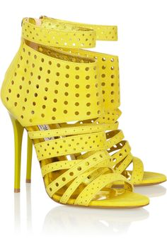 Jimmy Choo | Malika perforated suede sandals | NET-A-PORTER.COM