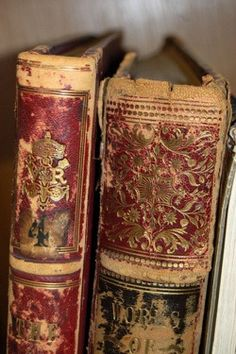 Vintage books | Reading | Browns and reds