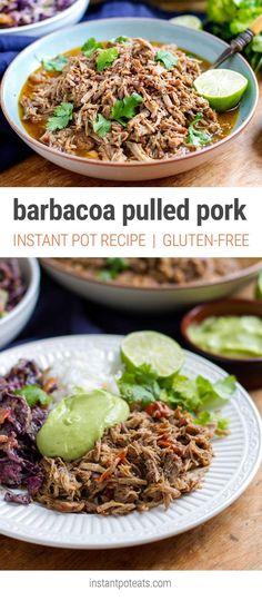 Barbacoa Pulled Pork - Instant Pot Recipe (Paleo, Gluten-free, Keto, Low Carb, Make Ahead Meals)