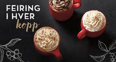 Starbucks´ røde kopper er tilbake! Har du prøvd noen av deres smakfulle juledrikker enda?