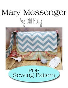 Messenger Bag Pattern, Diaper Bag Pattern PDF Sewing Pattern Ebook Sewing Tutorial DIGITAL DOWNLOAD