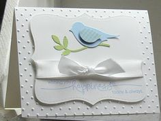 Stampin' Up! ... handmade  card from ARTfelt Impressions: Top Note Bird ... punched bird  in blue ...