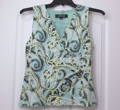 Kasper Women's Sleeveless Blouse 8 Petite Pre-Owned #Kasper #Blouse #CareerCasualClubwear